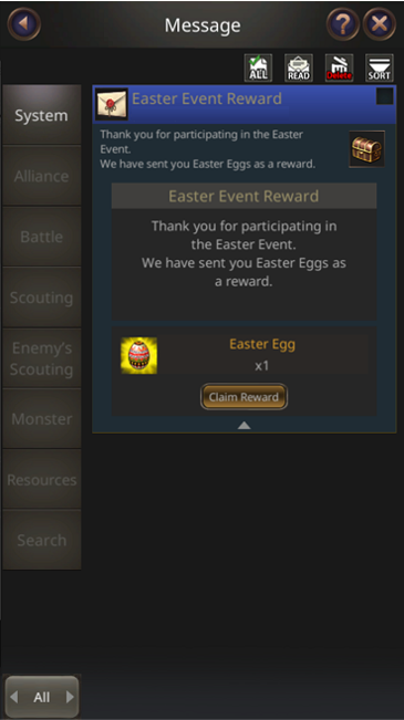 VERSUS : REALM WAR: Announcement - The Easter Event Notice image 5