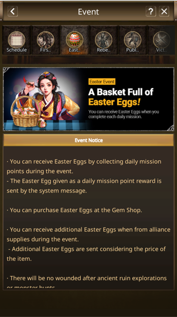 VERSUS : REALM WAR: Announcement - The Easter Event Notice image 3