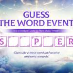 Guess the Word Event