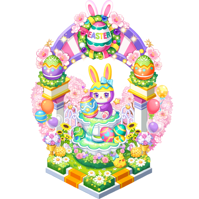 My Secret Bistro: ● Event - [Easter Rabbit Fountain] Lucky Box Accumulated Usage Event image 3