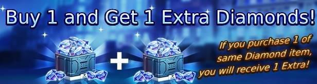 Noblesse:Zero: Events - Diamonds 1+1 Event! (1 Week extension) image 1