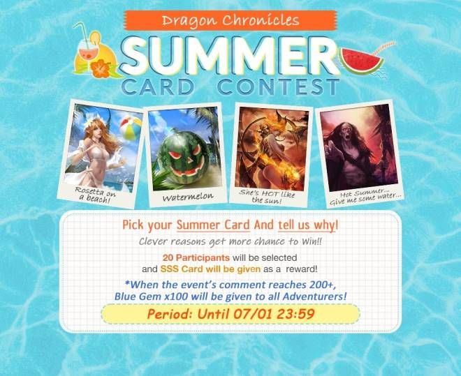 Dragon Chronicles: Event - 🎉EVENT. Dragon Chronicles, Summer Card Contest! image 2