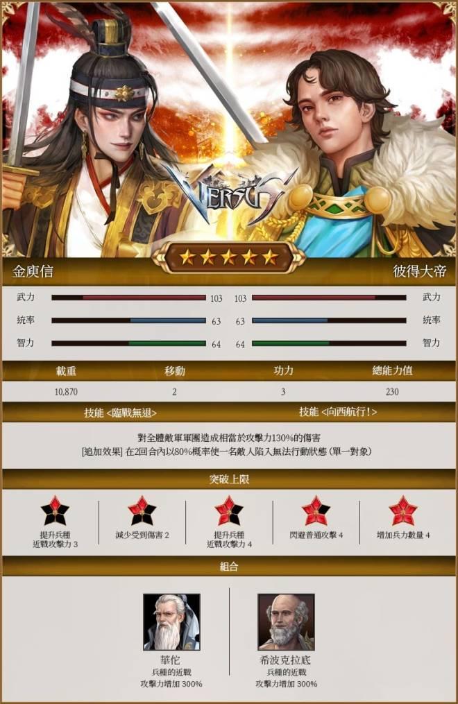VERSUS : REALM WAR [TW]: Announcement - 7月1日(星期四)紀念合並伺服器將帥上市! image 3