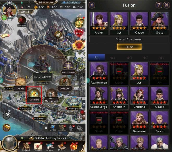 VERSUS : REALM WAR: Game Guide - ▣ Hero Fuse image 1