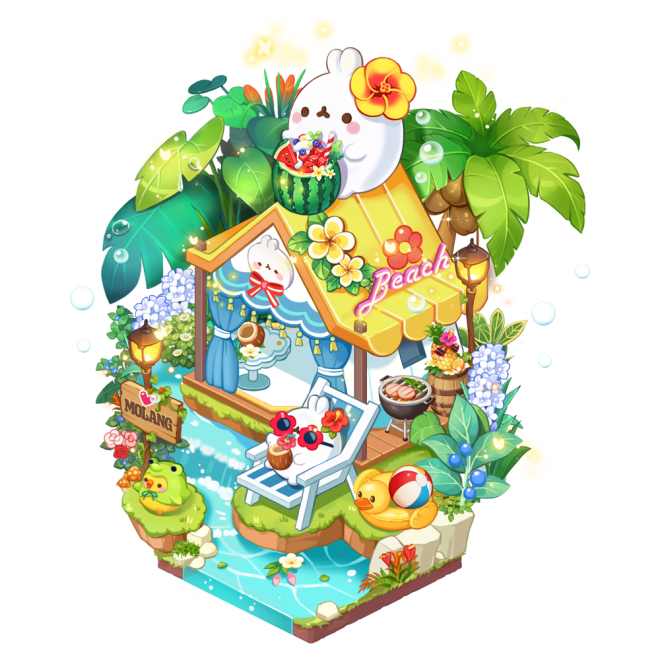 My Secret Bistro: ● Event - 4 Kinds of Molang Income Decor Packages Notice image 3