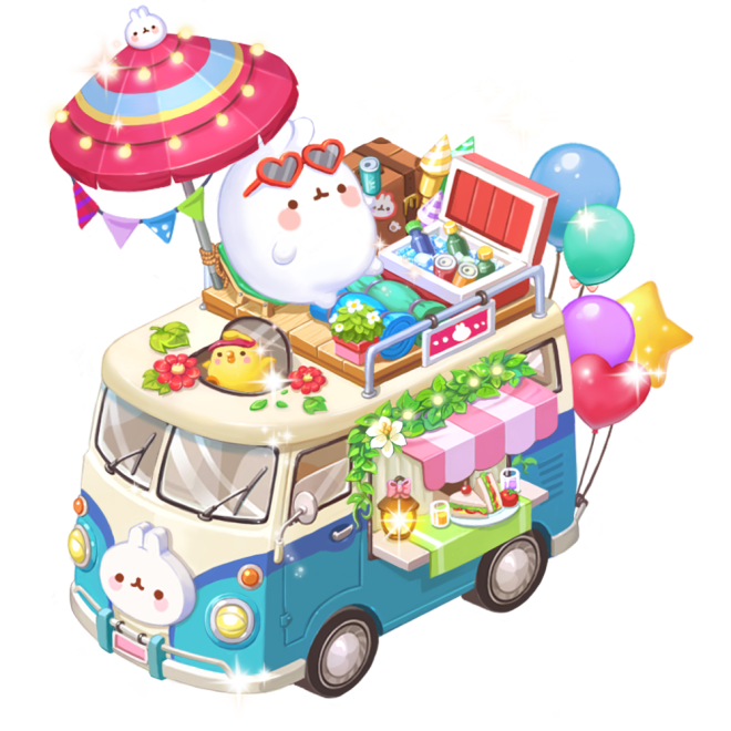 My Secret Bistro: ● Event - 4 Kinds of Molang Income Decor Packages Notice image 5