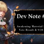 [Notice] Dev Note - Awakening Dungeon Result & 9/28 Update