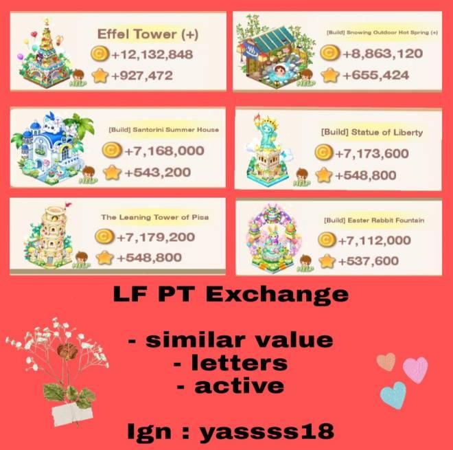 My Secret Bistro: ● Open Forum - LF PT Exchange - Ign : yassss18 image 1